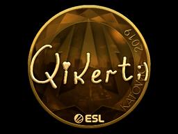 Sticker | qikert (Gold) | Katowice 2019