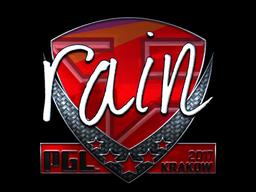 Sticker   rain (Foil)   Krakow 2017