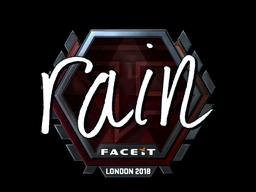 Sticker | rain (Foil) | London 2018