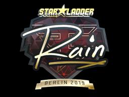 Sticker | rain (Gold) | Berlin 2019