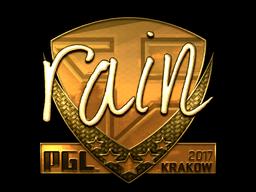Sticker   rain (Gold)   Krakow 2017