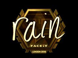 Sticker | rain (Gold) | London 2018