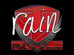 Sticker   rain   Krakow 2017