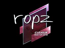 Sticker   ropz (Foil)   Boston 2018