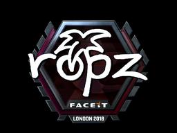 Sticker | ropz (Foil) | London 2018