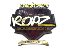 Sticker | ropz (Gold) | Berlin 2019