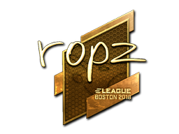 Sticker   ropz (Gold)   Boston 2018