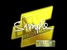 Sticker | s1mple (Foil) | Atlanta 2017