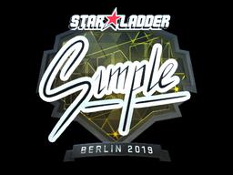Sticker | s1mple (Foil) | Berlin 2019