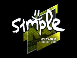 Sticker   s1mple (Foil)   Boston 2018