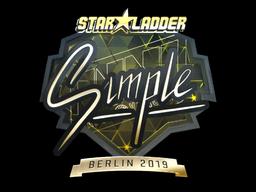 Sticker | s1mple (Gold) | Berlin 2019
