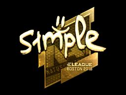 Sticker   s1mple (Gold)   Boston 2018