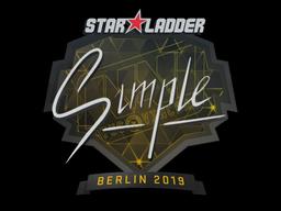 Sticker | s1mple | Berlin 2019