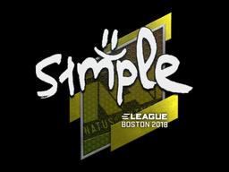 Sticker   s1mple   Boston 2018
