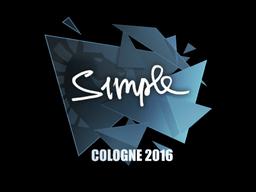 Sticker | s1mple | Cologne 2016