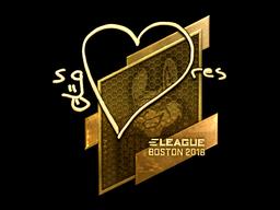 Sticker | seang@res (Gold) | Boston 2018