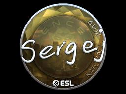 Sticker   sergej (Foil)   Katowice 2019