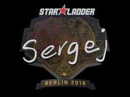 Sticker   sergej   Berlin 2019