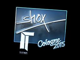 Sticker   shox (Foil)   Cologne 2015