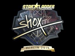 Sticker | shox (Gold) | Berlin 2019