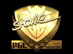 Sticker   shox (Gold)   Krakow 2017