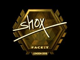 Sticker | shox (Gold) | London 2018