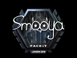 Sticker   smooya (Foil)   London 2018