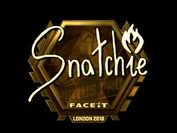 Sticker   snatchie (Gold)   London 2018
