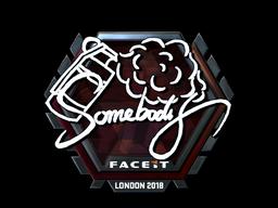 Sticker   somebody (Foil)   London 2018