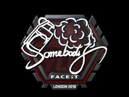 Sticker   somebody   London 2018