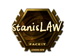 Sticker   stanislaw (Gold)   London 2018