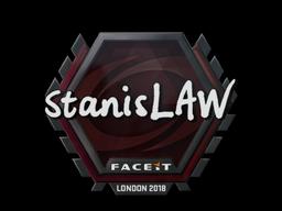 Sticker   stanislaw   London 2018
