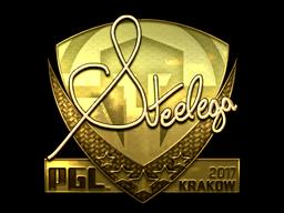Sticker   steel (Gold)   Krakow 2017
