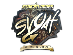 Sticker   svyat (Gold)   Berlin 2019