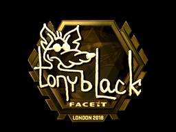 Sticker | tonyblack (Gold) | London 2018