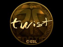 Sticker | twist (Gold) | Katowice 2019