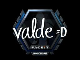 Sticker | v4lde (Foil) | London 2018