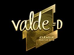 Sticker | v4lde (Gold) | Boston 2018