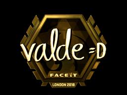 Sticker | v4lde (Gold) | London 2018