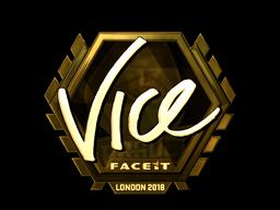 Sticker | vice (Gold) | London 2018